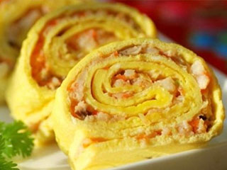 荤素均衡,健康饮食——蛋皮鲜虾卷