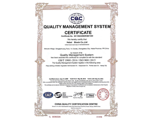 欣奇典2018年ISO9001證書-英